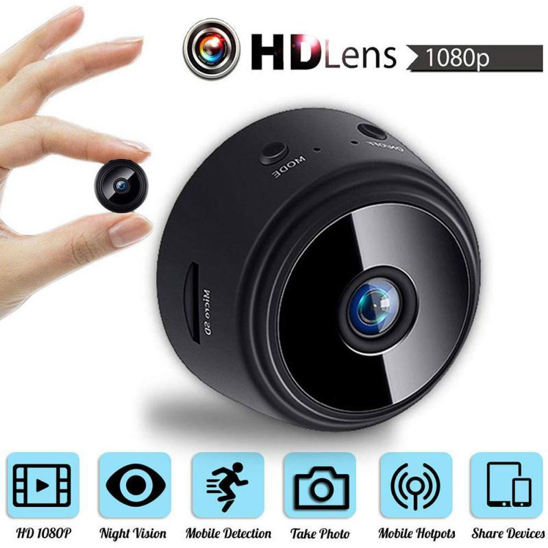 A9 1080P HD Mini IP WIFI Camera 150° Viewing Angle Camcorder Wireless Home Security Night Vision Re