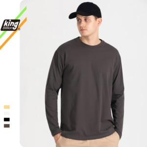 100%Cotton KB 2021 200G THICK Men's T-shirt Short-sleeve Man T shirt Long sleeves Pure Color Men t shirt T-shirts For Male Tops