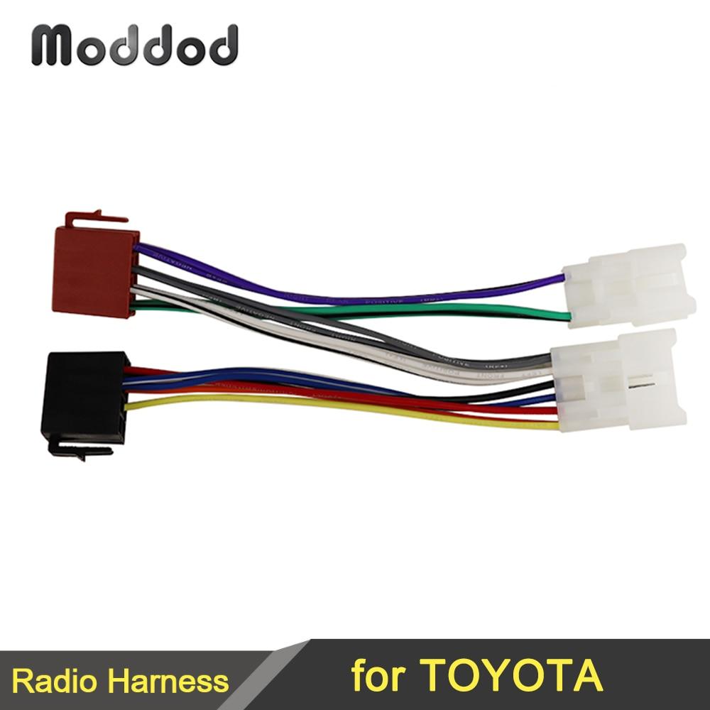 Wiring Lead Harness  ISO Stereo Wire Cable for TOYOTA Lexus MR2 Land Cruiser RAV4 Solara Yaris Car Radio Male Plug Adapter