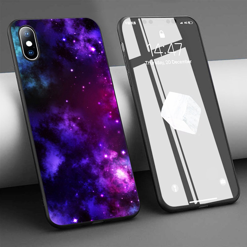 Funda de teléfono de silicona blanda Coque Space Gasses para iPhone 11 Pro Max X 5S 6 6S XR XS Max 7 8 Plus