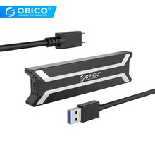 ORICO NVME M.2 SSD kasa tipi C USB 3. 10Gbps UASP M.2 USB NVME muhafaza alüminyum M2 PCIE SSD kasa JMS583 çip için 2 USB kablosu