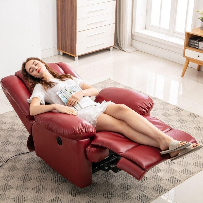 كرسي تدليك بالاهتزاز من البولي يوريثان ، أريكة مريحة لغرفة المعيشة ، أريكة ترفيهية ناعمة متعددة الوظائف ، أريكة تدليك فردية