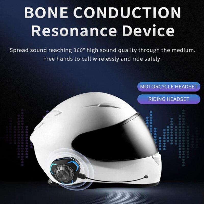 Capacete da Motocicleta Fones de Ouvido Alto-falante sem Fio Ip68 à Prova Interfone Estéreo Bluetooth Condução Óssea Dip68 Água Esportes Fone