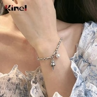 kinel ethnic vintage lucky cat bell bracelets for women 100 925 sterling silver handmade style jewelry free delivery