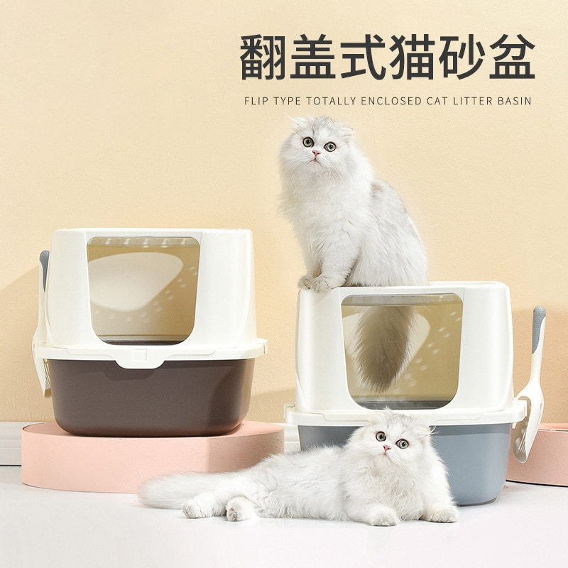 Litter Box Fully Enclosed Cat Supplies Top-in Cat Litter Basin Fat Cat Large Cat Cat Litter Box Litter Box Cat Toilet