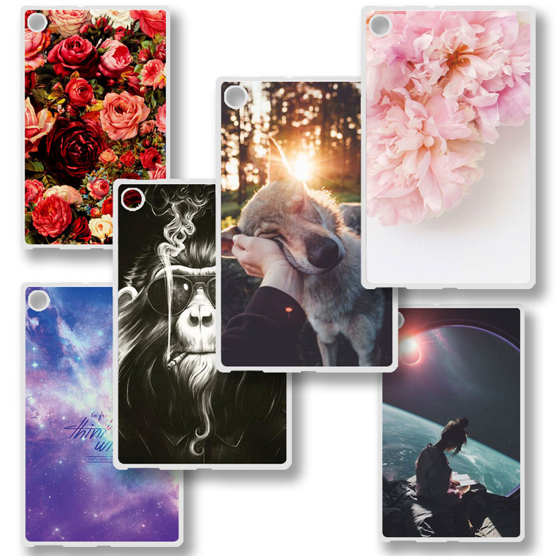 Tablet Case For Huawei Honor Pad 2 8.0 inch Pad2 Funda Honor Pad 2 Tablet Bumper Cute Cartoon Shockproof Silicone Soft TPU Cover