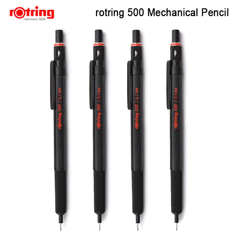 Rotring 500 0.5mm/0.7mm mechanical pencil plastic pen holder Metal knurling grip automatic pencil 1 piece