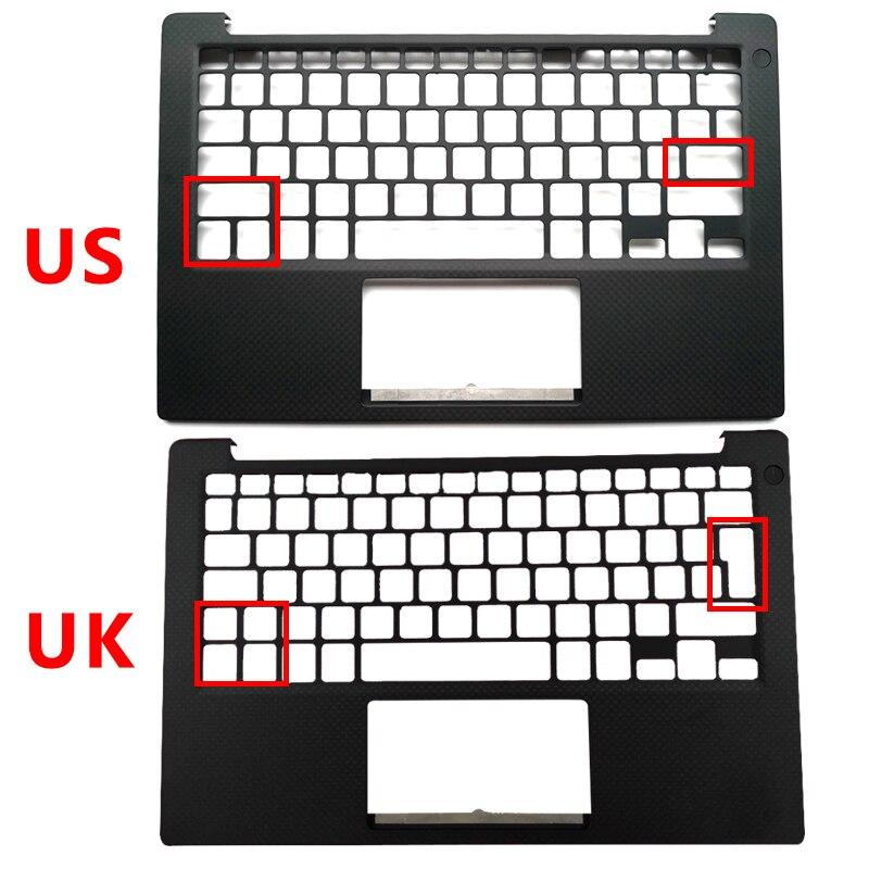 Palmrest-غطاء لوحة مفاتيح الكمبيوتر المحمول ، لأجهزة DELL XPS13 9350 9360 ، إصدار الولايات المتحدة والمملكة المتحدة ، 043WXK 43WXK 0PHF36 0NXHVX