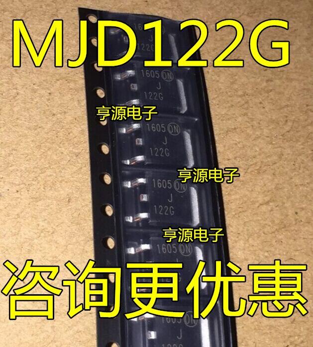 10 peças MJD122G 122G NPN TO-252 MJD122