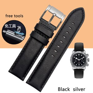 18 Mm 20 Mm 22 Mm Italian Leather Strap Universal Flat Joint With Needle Buckle Free Tool For Men's Watch