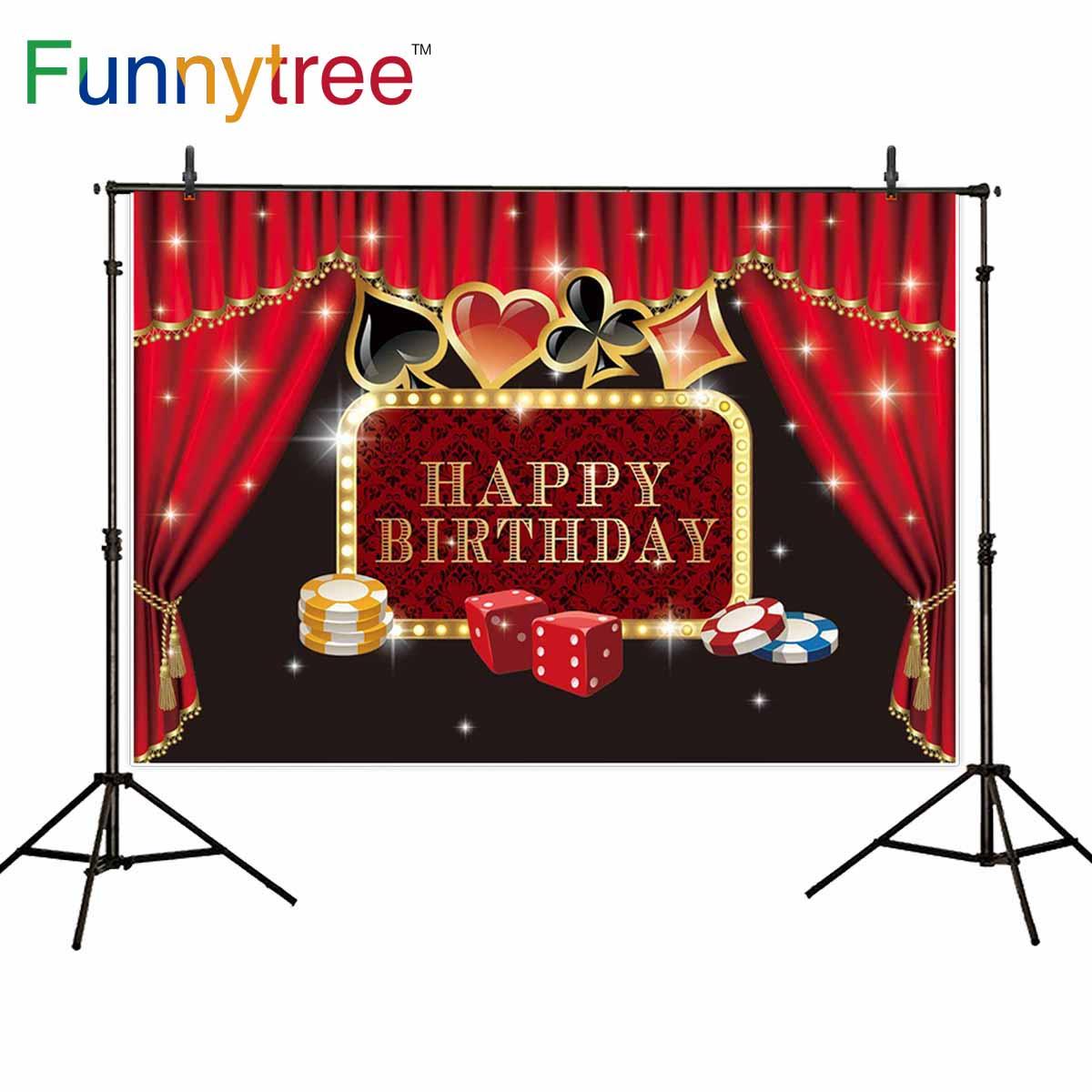 Funnytree foto de fondo photozone telón de fondo Casino Fiesta póker Las Vegas cumpleaños tema cortina fotografía estudio fotofono
