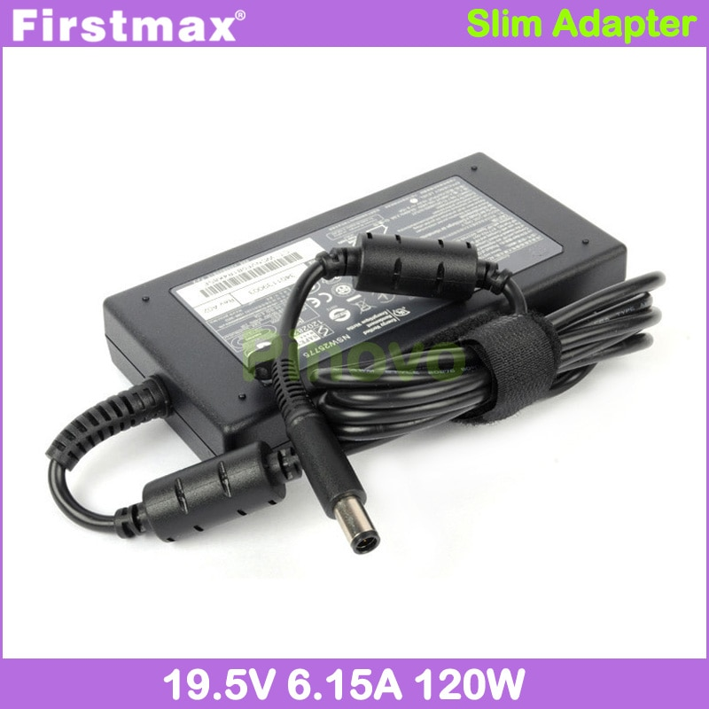 Firstmax cargador de ordenador portátil 19,5 V 6.15A 120W adaptador de CA para HP HDX X18 X18-1000 X18-1100 X18-1200 X18-1300 fuente de alimentación