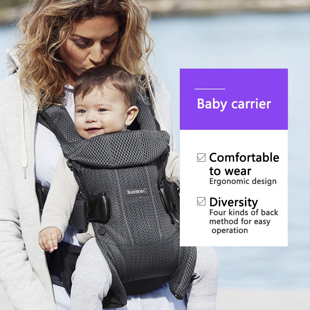 Baby sling, mesh front, hold the baby, hold the baby artifact, outing is simple, light and multifunctional Baby sling