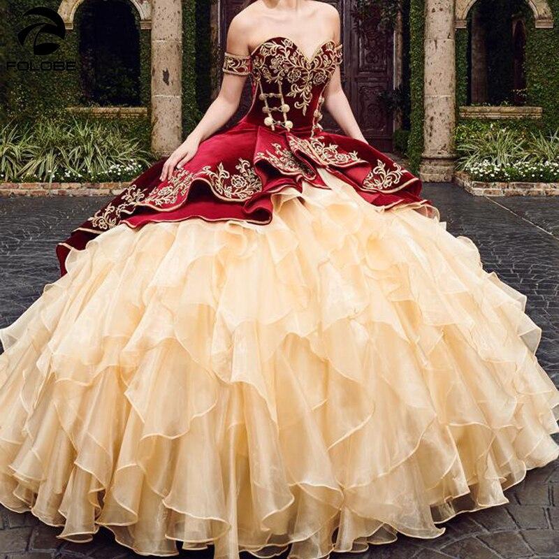 Женское бальное платье, платья для Quinceanera с вышивкой, женское платье на шнуровке, милое платье 16