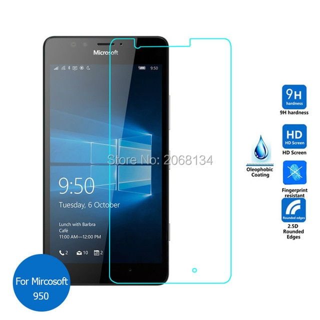 2.5D For Nokia Lumia 950 Tempered Glass Original Protection Protective Film Front Safety Screen Prot