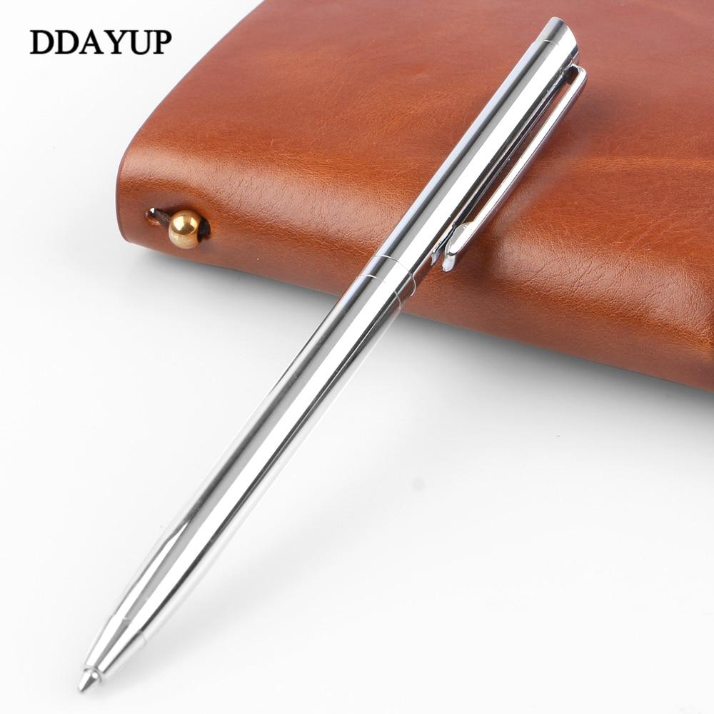 1 шт./лот, металлическая вращающаяся шариковая ручка из нержавеющей стали