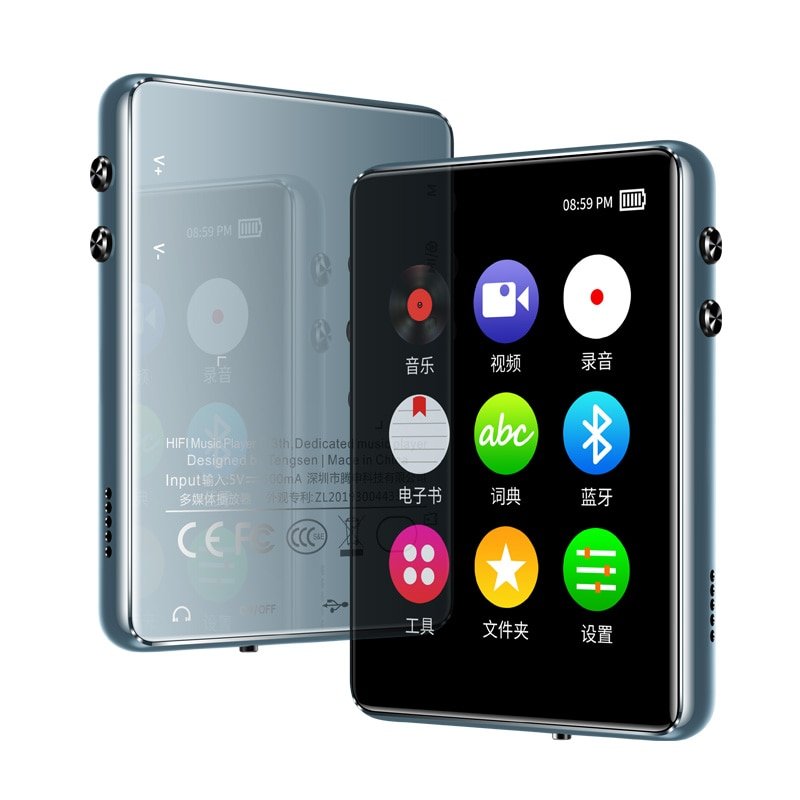 Original Bluetooth 5.0 metal MP4 player touch screen 2.4 inch built-in speaker 16G with e-book radio recording video playback enlarge