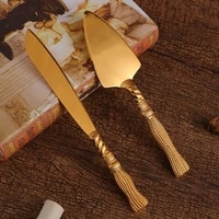 european zinc alloy baking tools cake knife pizza triangular shovel tableware two piece set