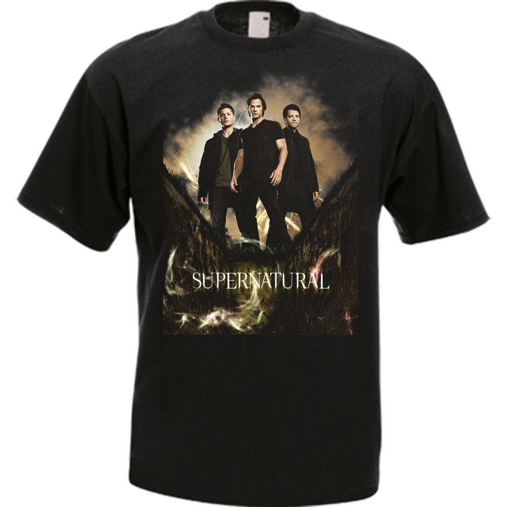 La serie de TV Supernatural negro para hombres camiseta Cool Casual pride camiseta hombres Unisex moda camiseta envío gratis camisetas divertidas