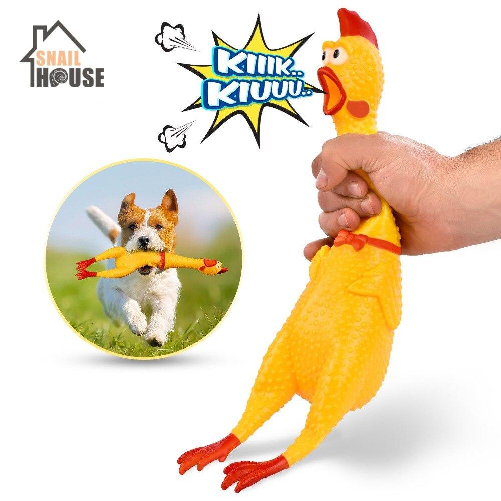Snailhouse, хит продаж 2019, кричащие куриные питомцы игрушечные собаки, сжимаемые скрипучие звуковые забавные игрушки, безопасные резиновые игрушки для собак, молярные жевательные игрушки