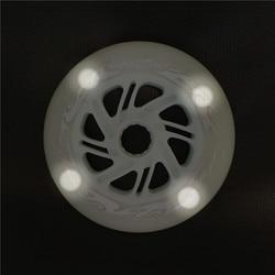 125 milímetros Rodas de Patinação Maratona Flash LED Brilhar Rolo Rodas para 3X125 milímetros Velocidade Patins Inline 3- rodas 6 pcs Branco Vermelho Azul Verde