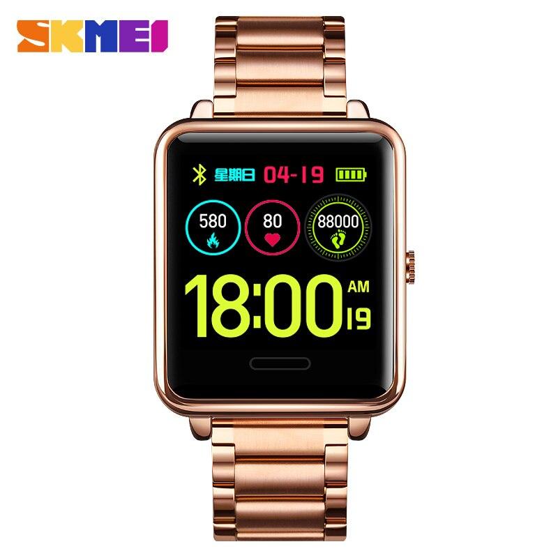 Inteligente dos Homens à Prova Inteligentes para Pressão Relógio de Calorias Skmei Relógio Dwaterproof Água Esporte Smartver Android Reloj 2021 Relógios Arterial