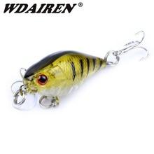 1Pcs Minnow Hard Fishing Lure 45mm 4.4g Topwater Wobblers Swimbait Artificial Bait with Hooks Crankbait Fishing Tackle PR-382