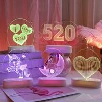 LED Saint-Valentin Numerique Lanterne Lettre DAMOUR Amour Coeur 3D Lampe Suspendue Proposition Confession Chambre Lampe De Decoration Decor A La Maison
