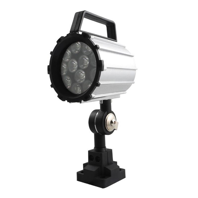 Brazo corto caliente Led luz de trabajo 12W 24V 36 36V iluminación de aleación de aluminio 280Mm para torno Cnc fresadora