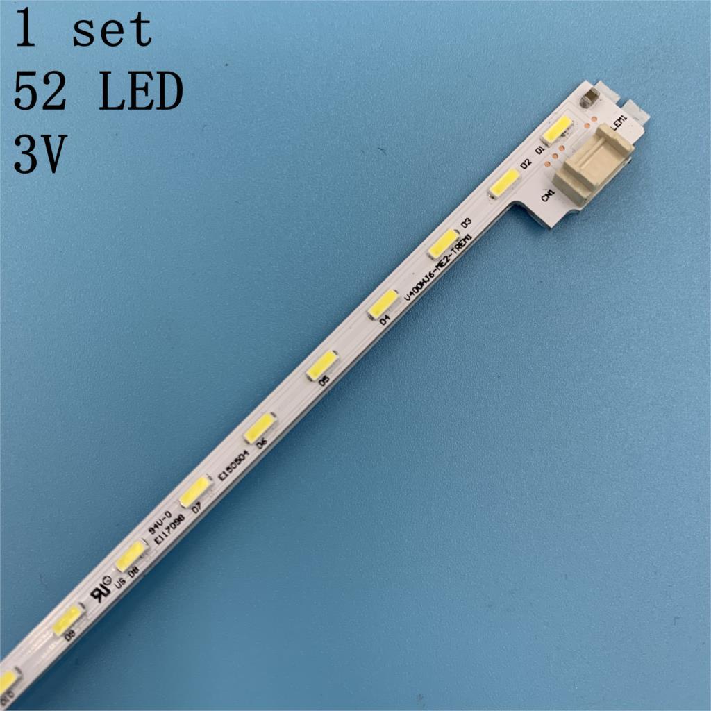 Para NEW100 % reparación Sharp LCD-40V3A LCD TV de retroiluminación LED artículo lámpara V400HJ6-ME2-TREM1 V400HJ6-LE8 1 Uds = 52LED 490MM