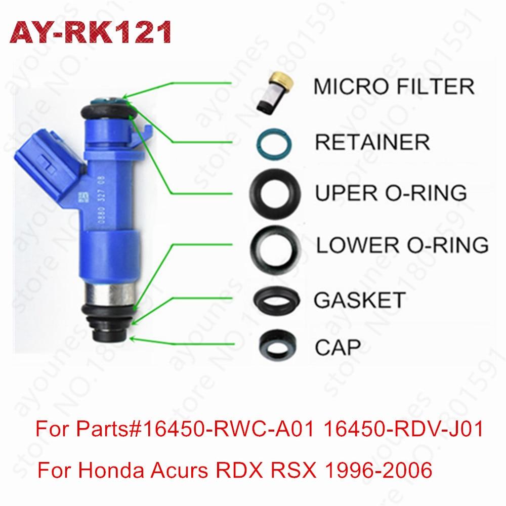 40kits de reparación de inyectores de combustible para Honda Acura RDX Denso inyectores 410cc B16 B18 K20 K24 DC EG EK ITR CTR tipo para AY-RK121