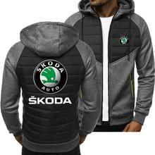 2021 New Men Hoodies for Skoda Car Logo Spring Autumn Jacket Casual Sweatshirt Long Sleeve Zipper Ho