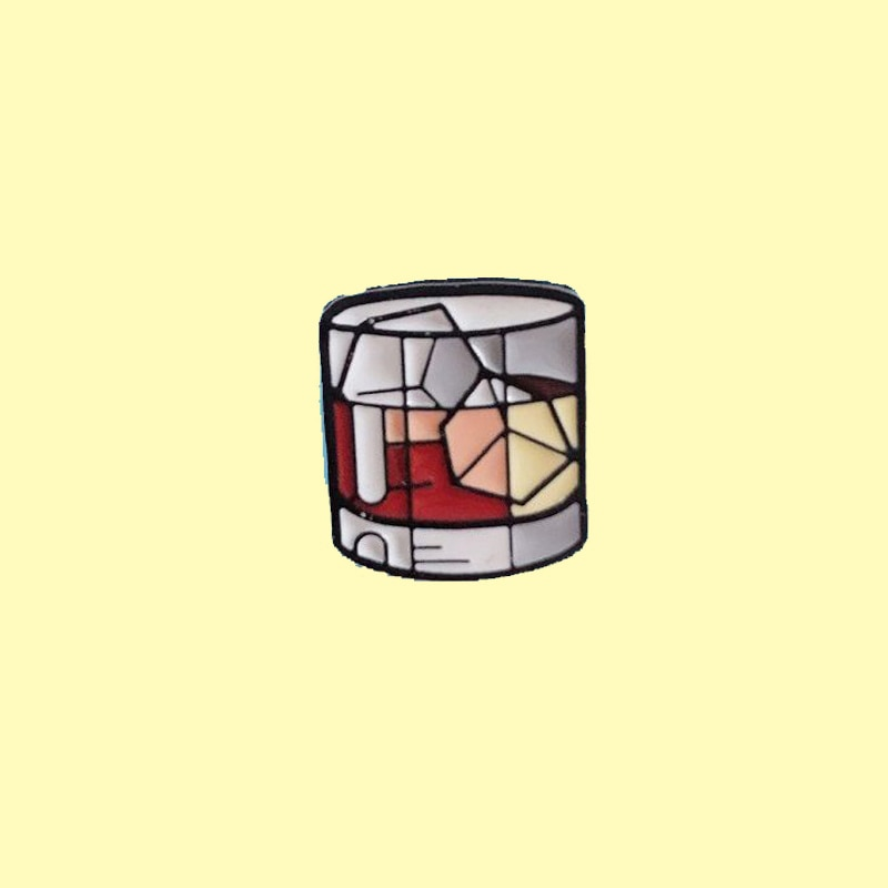 Эмалированная брошь на рюкзак для виски с кубиком льда, прочная брошь на вино, отворот для одежды, вкусные напитки, ювелирные изделия, подаро...