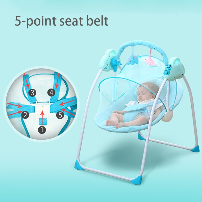 Smart Electric Baby Rocking Chair Home Crib Cradle Automatic Baby Cradle To Coax The Baby To Sleep Baby Swing Foldable Cradle enlarge