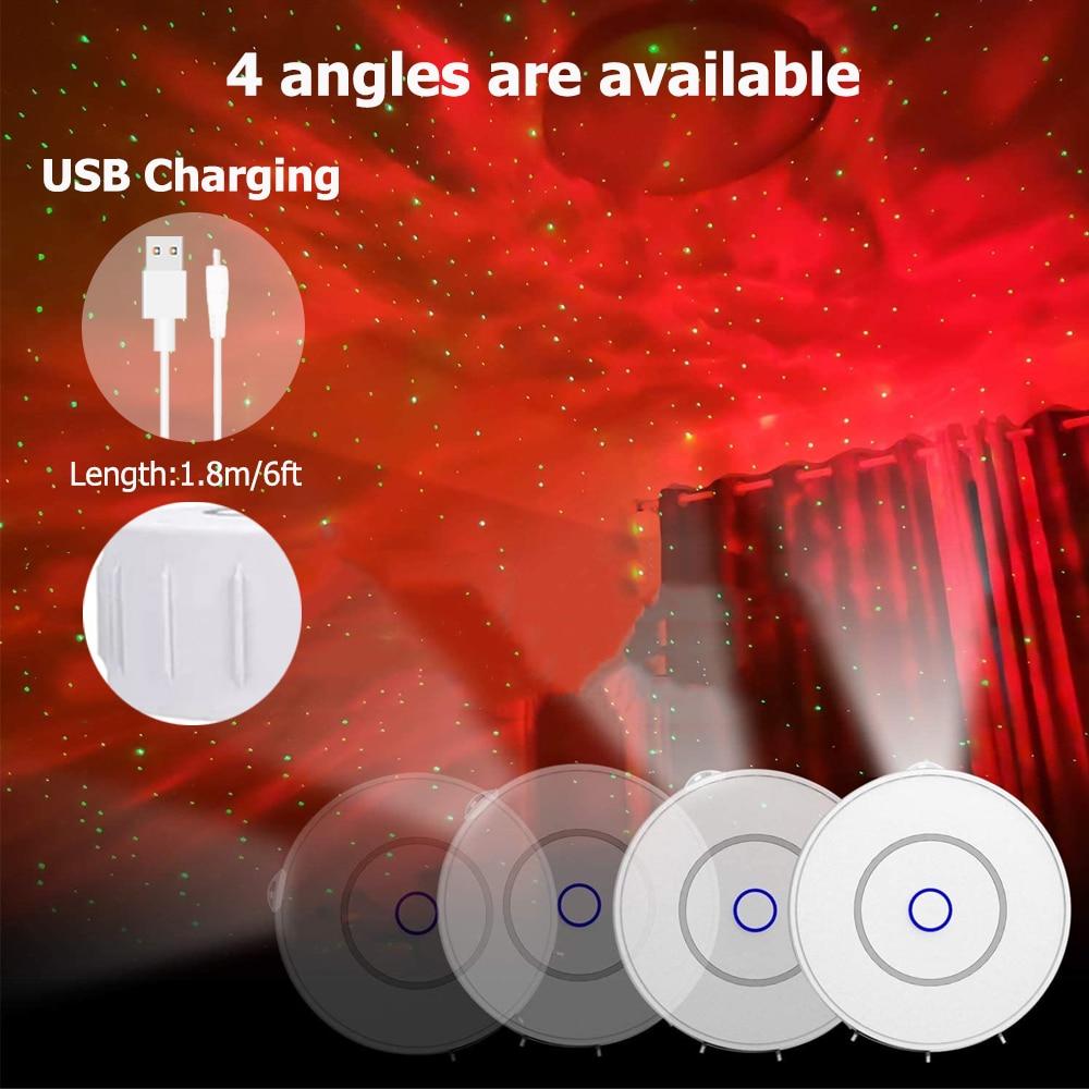 Galaxy Projector Night Light Galaly Lamp Sky Projector Star Light Smart APP Controlled Laser Disco Lamp Bedroom Decor Nightlight enlarge