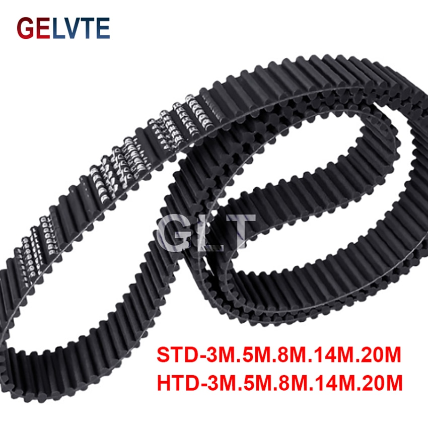 wanhua wanhua htd портативные рации гражданские коммерческие RubRubber D8M Double-Sided Tooth Synchronous Belt Double-Sided DA8M HTD Tooth Transmission Belt
