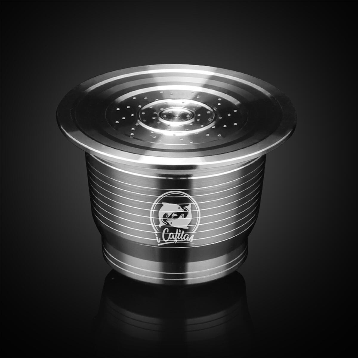 Filtros de café de acero inoxidable, taza Cápsula de café reutilizable, Kit rellenable para máquina Nespresso U
