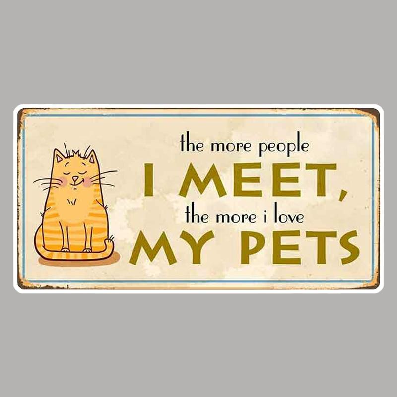13cm x 6.6cm for The More People I Meet Sign Cartoon Car Stickers Vinyl Bumper RV VAN Car Accessorie