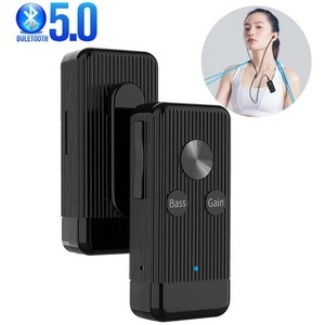 Bluetooth 5.0 Receiver Bass Noise Reduction Bluetooth Adapter with MIC for Headphone Speaker Music Wireless Audio Receiver
