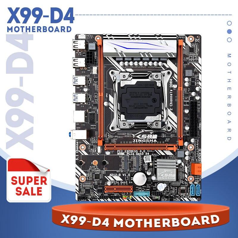 Jingsha X99 D4 اللوحة LGA2011 V3/V4 M-ATX USB3.0 NVME M.2 WIFI SSD دعم DDR4 الذاكرة و زيون E5 V3 المعالج