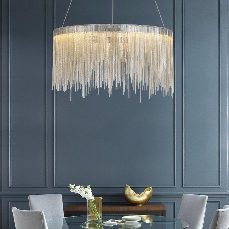 Nordic внутреннее освещение, люстры современные круглые люстры с кисточками для дома, гостиной, спальни, блеск, минимализм, Подвесная лампа