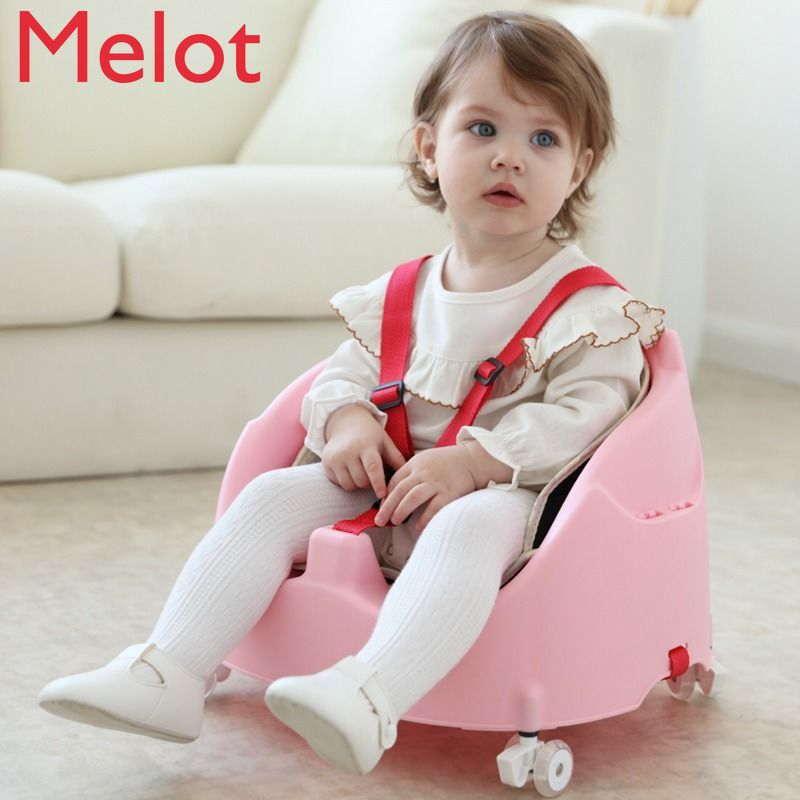 Luxury Children's Seat Baby Dining Chair Multifunctional Adjustable Dining Table Portable Baby Sliding Chair