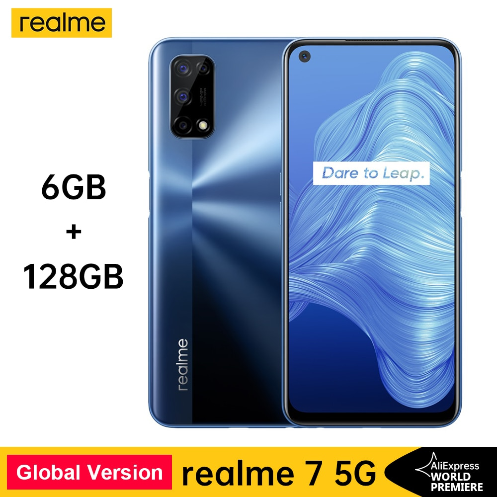 Realme 7 5G Dimensity 800U 6 128GB 120Hz 48MP 5000mAh глобальная Версия 30W Дротика зарядное устройство