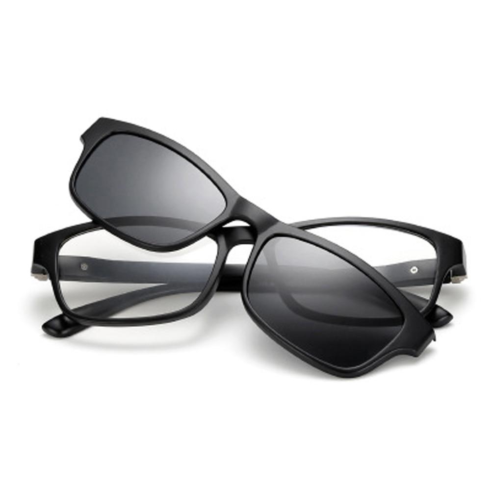 Магнитные поляризационные солнцезащитные очки Polaroid клипса зеркальные клипсы солнцезащитные очки клипсы на очках мужские очки по рецепту п...