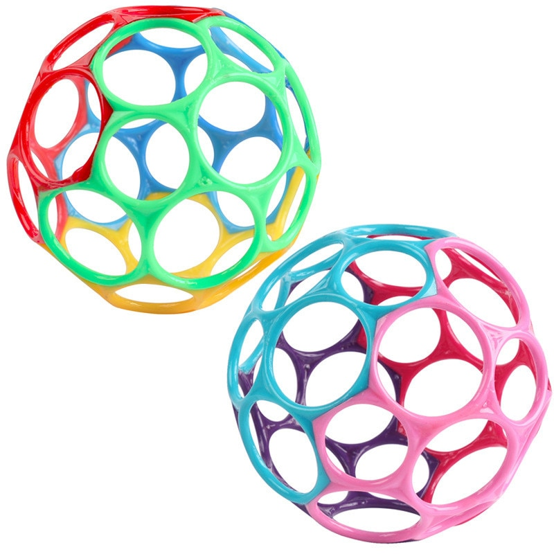 Baby Toys Rattles Kids Educational Toys Grasping Holes Balls For Newborn Cribs Stroller Soft Safety