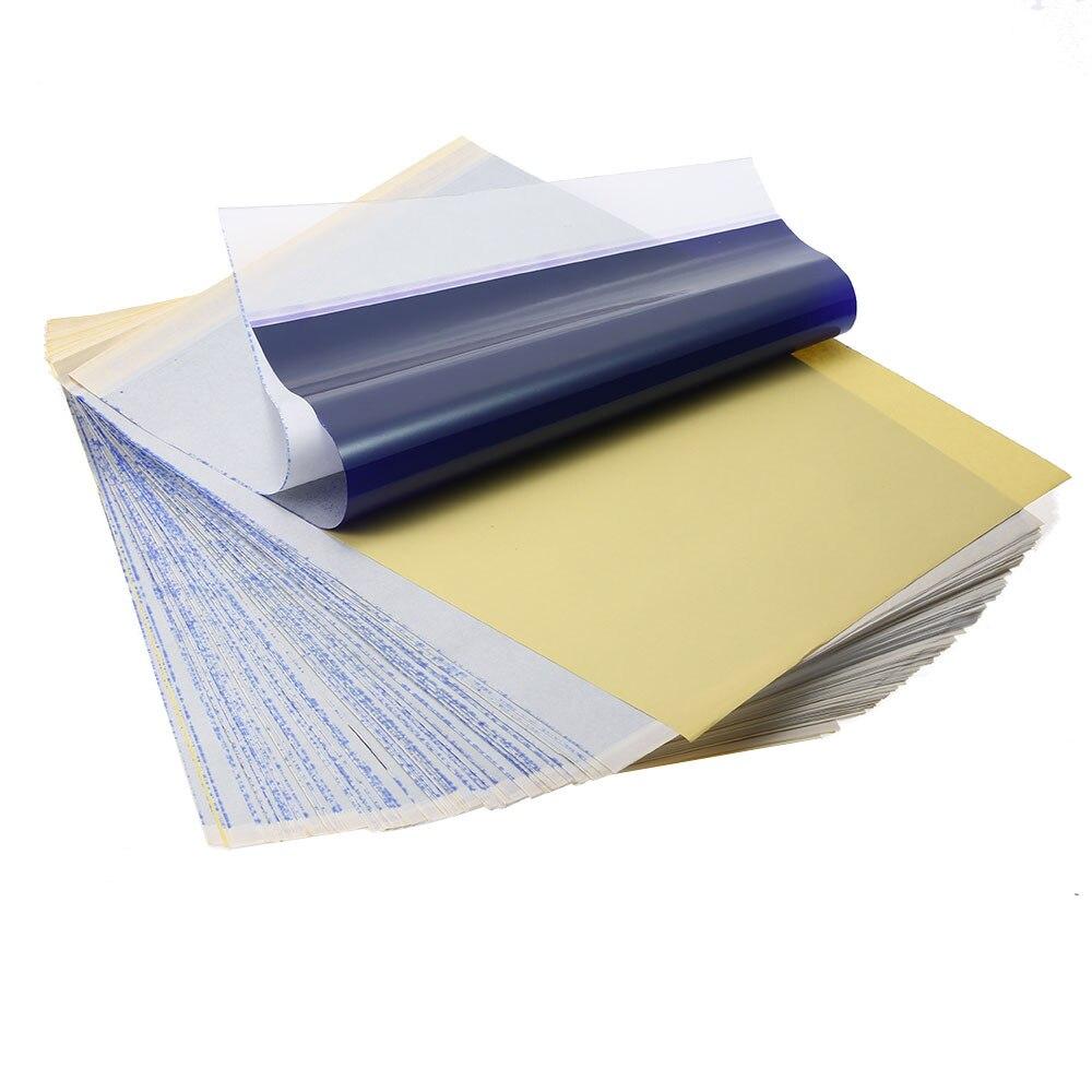 100 قطعة الوشم الحراري نقل ورقة الوشم نقل ورقة A4 حجم ورق حراري لوازم الوشم