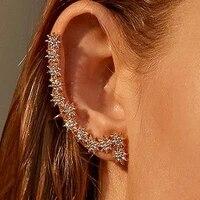 big earrings star crystal ear clip earrings for women zircon earing without hole jewelry fake earring single ear clip earings
