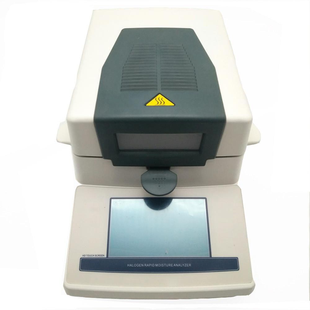 Medidor analizador de humedad halógeno con pantalla táctil 100MW-T con capacidad de 110g, probador electrónico de humedad para químico textil alimentario, etc.