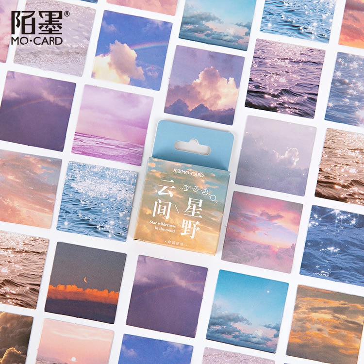 46-pz-pacco-star-deserto-in-the-cloud-mini-adesivi-di-carta-decorativo-album-fai-da-te-diario-scrapbook-etichetta-adesiva-di-kawaii-di-cancelleria