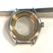 41mm Watch Case Brushed Sliver Fit ETA 2836,2824 Mingzhu/DG 2813/3804,Miyota 8205/8215 /821A Movement automatic mechanical watch